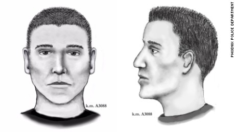 Composite images of the suspect
