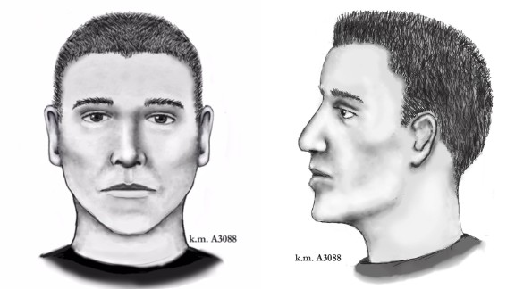 Police have released two new composite images of the suspect.
