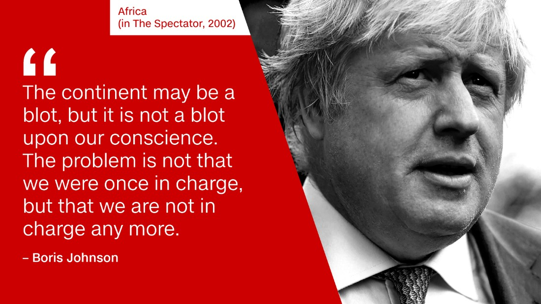 'Watermelon smiles' and 'piccaninnies': Boris Johnson on Africans