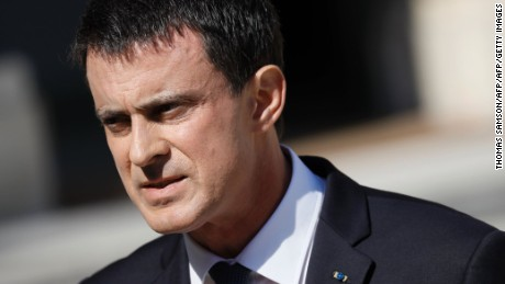 French Prime Minister Manuel Valls speaks in July at the Elysee Palace in Paris.