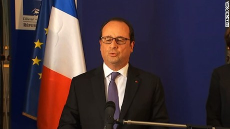 From 6a changed to France Pool     President Francios Hollande leaves Pasteur Hospital . Hollande expected to head to ?Palais Sarde? Police Prefecture next     London RX: 581 with translation   Source: French pool        Source: French pool