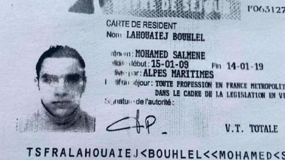 Mohamed Lahouaiej Bouhlel's ID Card