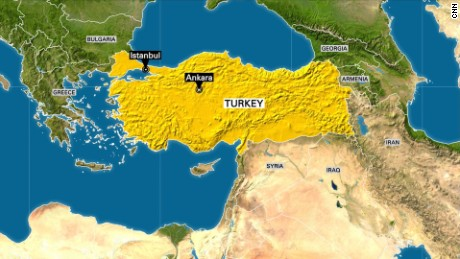 Turkish PM Military Taking Illegal Action CNN Video - Turkey map