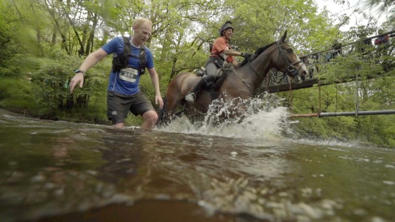 Between the small boulders, steep incline, uncleared river crossings, and of course, horses being ridden very close, it