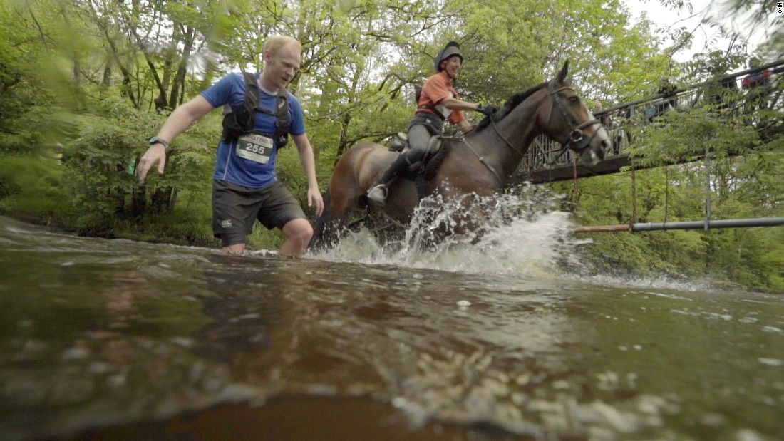 Between the small boulders, steep incline, uncleared river crossings, and of course, horses being ridden very close, it's a wonder the race hasn't had injuries more extensive than the rare twisted ankle.