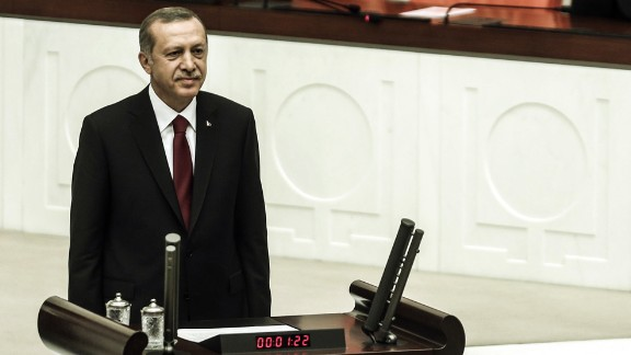 Erdogan attends a swearing in ceremony in Ankara, Turkey, on August 28, 2014. Erdogan was sworn in as Turkey