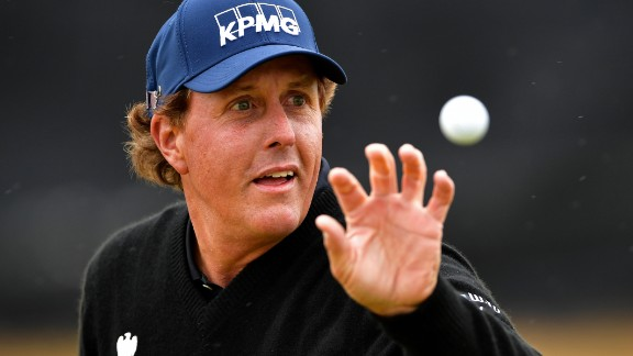 Halfway leader Phil Mickelson of the United States went head to head with Stenson throughout the round and is one shot adrift.