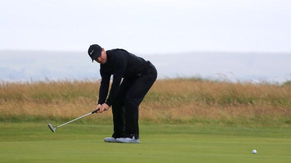 2014 champion Rory McIlroy was out of luck with his putter as he carded a two-over 73 to go into the clubhouse on level par.