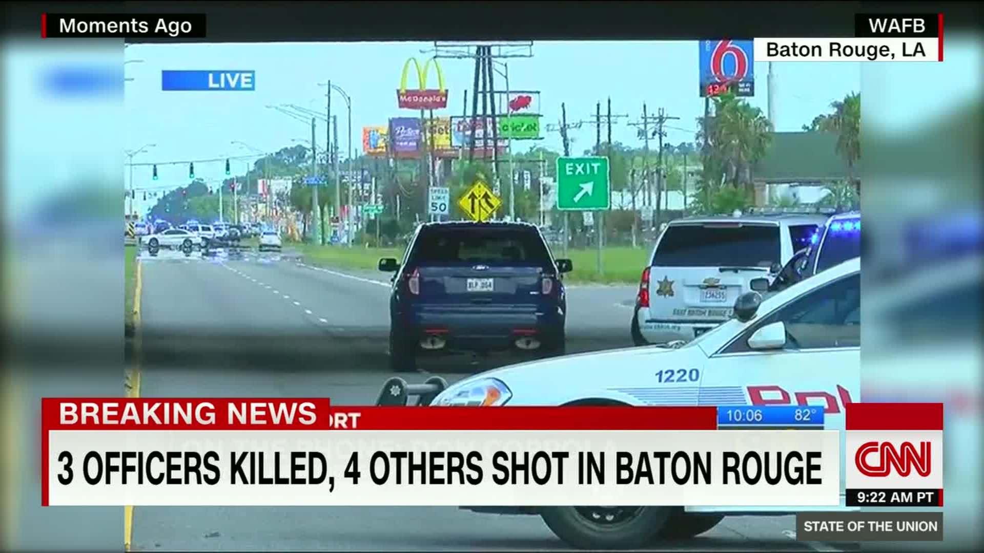 New video of gunfire exchange in Baton Rouge - CNN Video