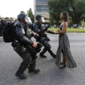 baton roughe viral protest image - RESTRICTED