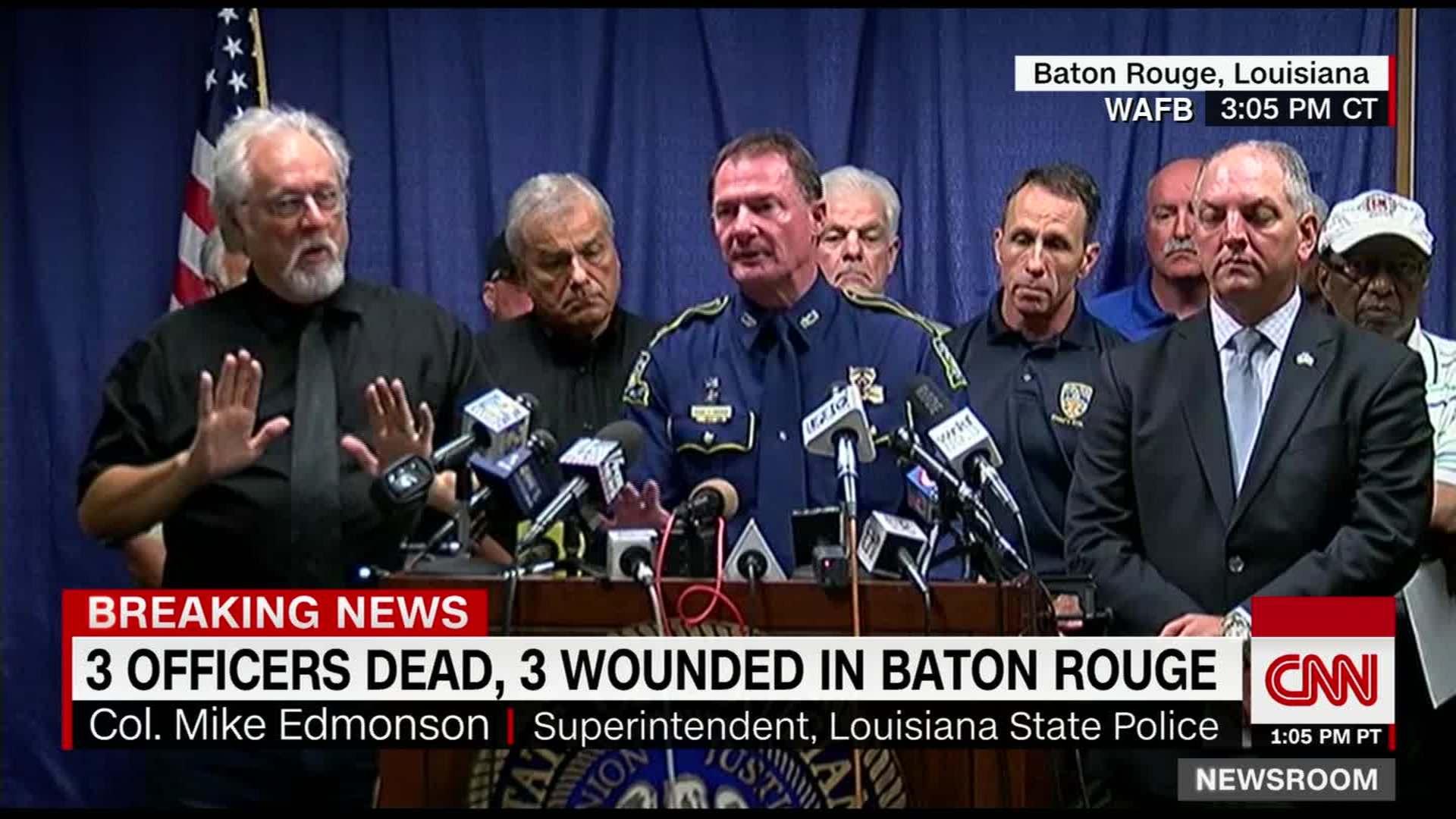 Witness describes Baton Rouge police shootout scene - CNN Video