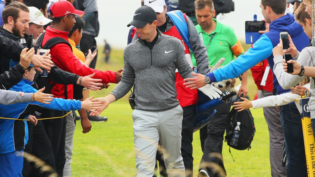 2014 champion Rory McIlroy proved popular with the fans on the last day and had his best round of the week to finish on four-under for the championship.