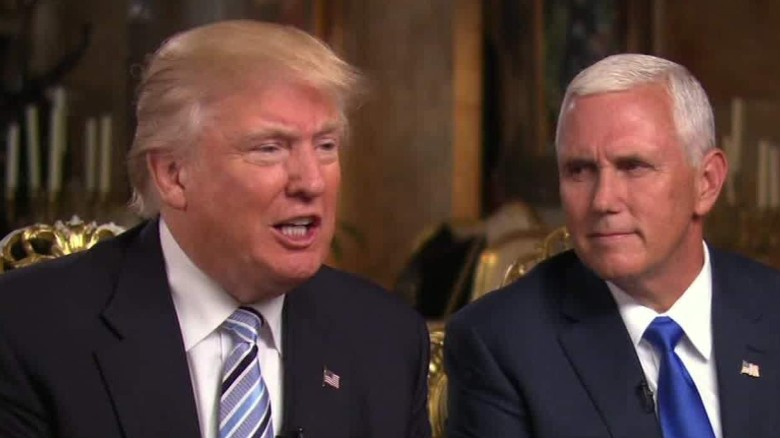 Donald Trump and Mike Pence give 1st interview together