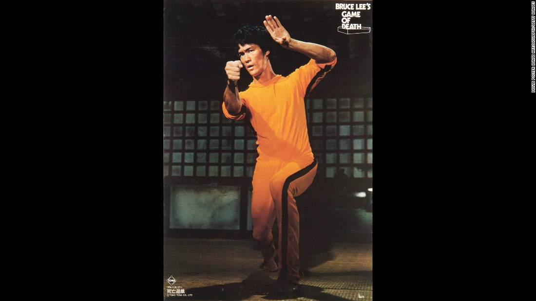 "A poster for Robert Clouse's drama ""The Game of Death"" starring Bruce Lee and released in 1978 five years after Lee's death. ""The Game of Death,"" shot in 1972 but left incomplete when Lee died, would be his last film."