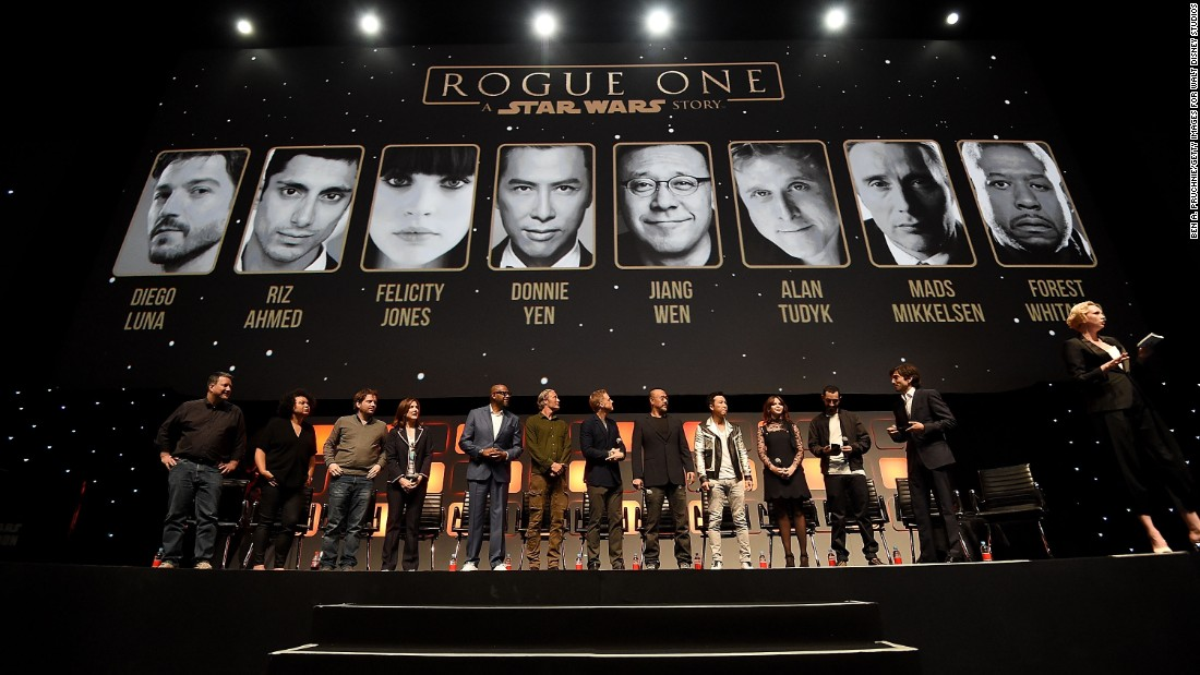 "The ""Rogue One"" panel at the ""Star Wars"" Celebration 2016 at ExCel on July 15 in London"
