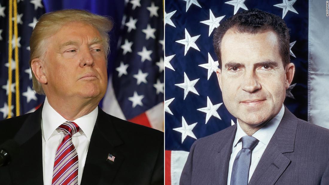 Kết quả hình ảnh cho Nixon và Trump