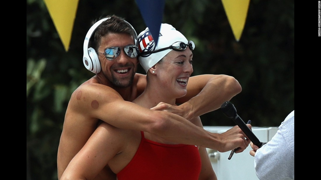 "US Olympic swimming champions Michael Phelps (left) and Allison Schmitt both battled depression during their careers. Schmitt suffered from ""post-Olympic blues,"" and ""kept digging into a hole,"" she told Detroit's WDIV Local 4. Her friend Phelps -- who had recovered from his own depression battle -- took notice and helped her receive counseling."