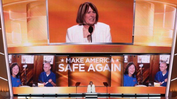 "Patricia Smith, mother of Benghazi victim Sean Smith, told the crowd in Cleveland, ""I blame Hillary Clinton personally."" Clinton, the Democratic Party"