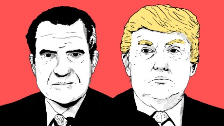 trump nixon illustration RNC week mullery