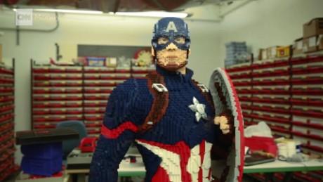 How Lego Built A Life Size Captain America Cnn Video