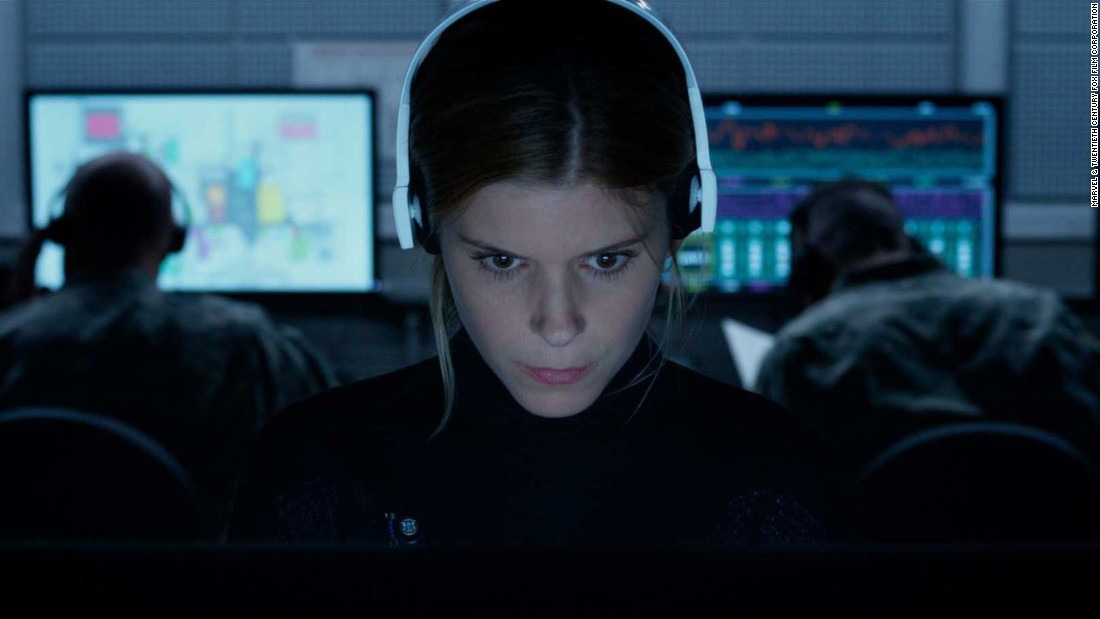 "Actress Kate Mara as Sue Storm, also known as the Invisible Woman, in ""Fantastic Four."" The character can render herself and others invisible."