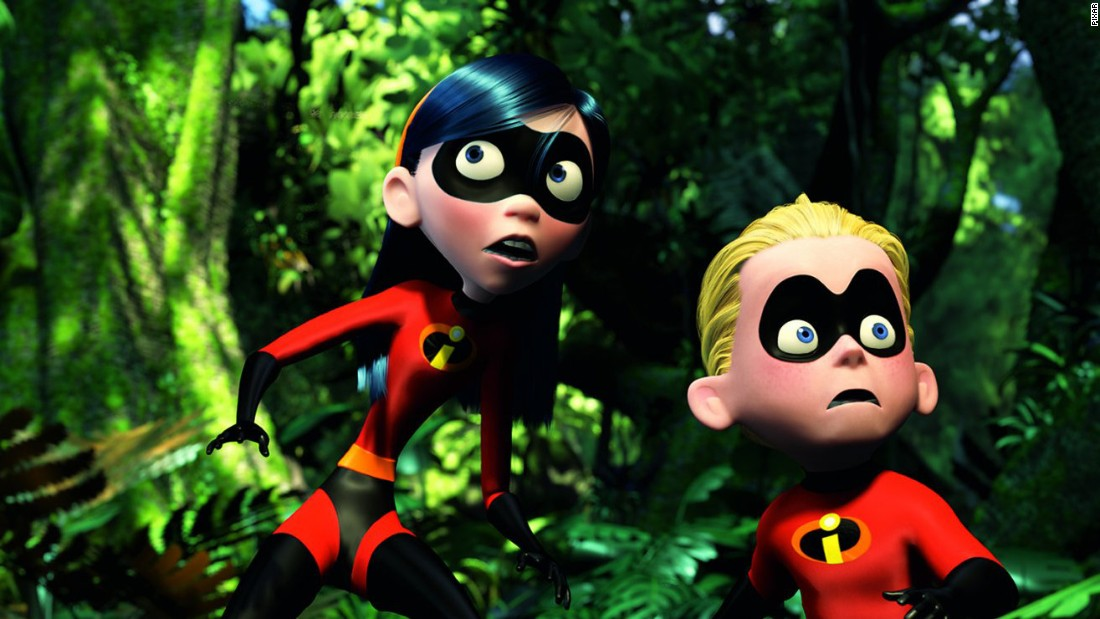 "Violet and Dashiell ""Dash"" Parr in ""The Incredibles,"" in which Violet has a superpower that allows her to turn instantly invisible."