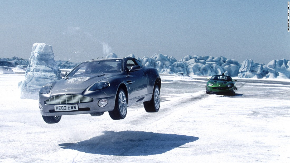 "James Bond's Aston Martin Vanquish in ""Die Another Day"" could become practically invisible at the push of a button."