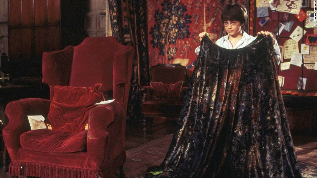 "Daniel Radcliffe as Harry Potter in ""Harry Potter and the Sorcerer's Stone"" had an invisibility cloak."