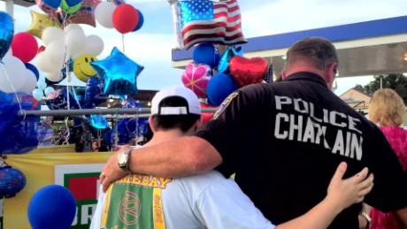 Police chaplain offers comfort after officers' deaths