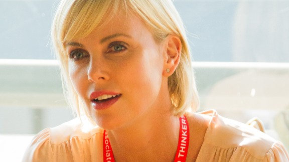 Actress Charlize Theron spoke at the 21st International AIDS Conference.
