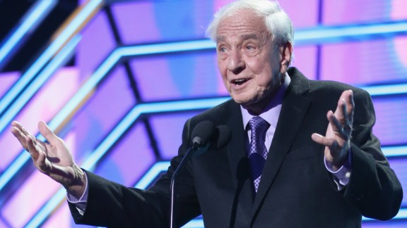 SANTA MONICA, CALIFORNIA - APRIL 10:  Actor Garry Marshall presents the Timeless Icon Award onstage during the 2016 TV Land Icon Awards at The Barker Hanger on April 10, 2016 in Santa Monica, California.  (Photo by Joe Scarnici/Getty Images for TV Land)