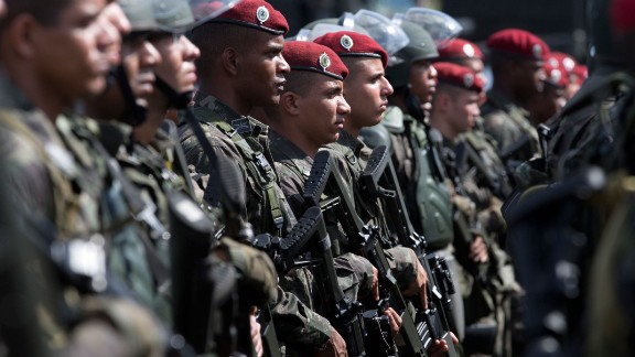 Brazilian Paratrooper Brigade soldiers will be deployed at the Games, which will have about twice as many security people as the London Games.