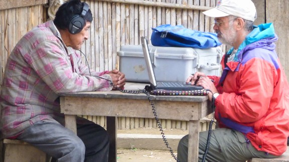 Brandeis University Professor Ricardo Godoy conducts the study experiment in a village in the Bolivian rainforest.