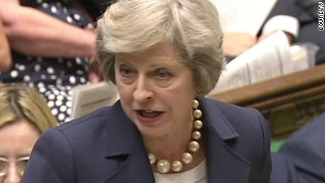 Theresa May faces first prime minister questions