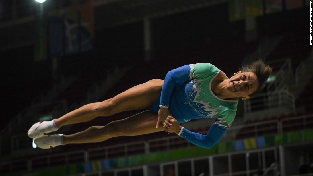 Uzbekistan's Oksana Chusovitina will be competing at her seventh Olympics -- a record which no other gymnast can match. Her first Games was back in 1992 where she won a gold medal there as a member of the Unified Team (made up of athletes from former Soviet countries). She won bronze for Uzbekistan on the vault at Beijing in 2008 and will be hoping for more success this time around at the age of 40.