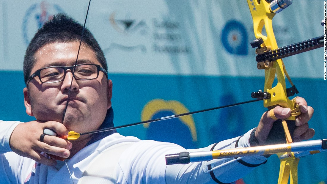 Kim Woojin of South Korea has already won two world championship titles but this will be the archer's first Olympics. The 24-year-old missed the cut in 2012 but will be one of the favorites this time around.