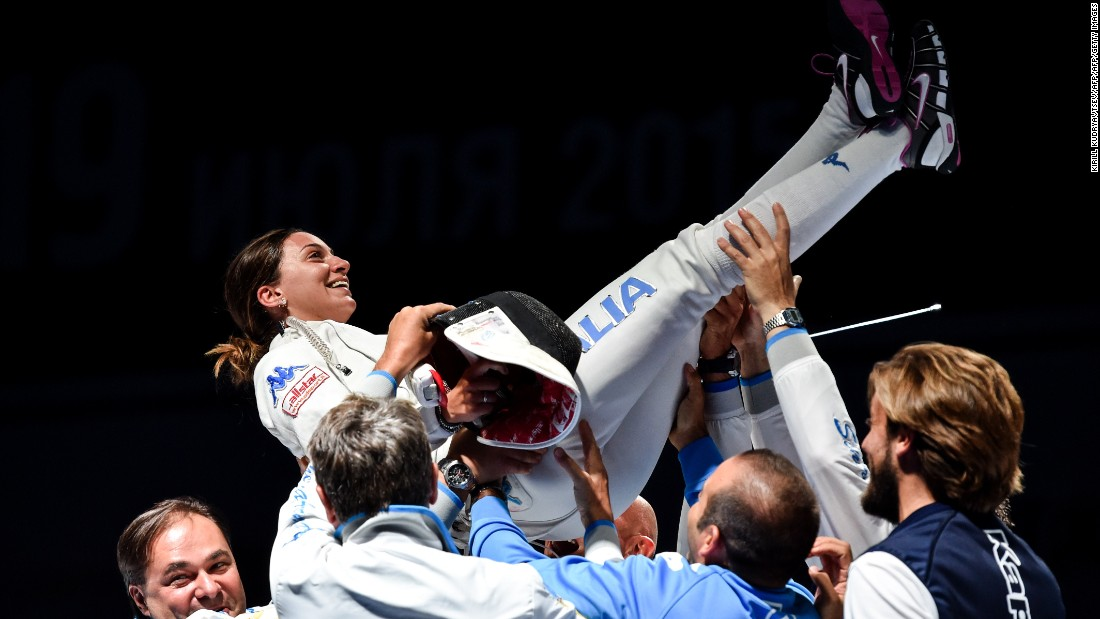 Italy's Rossella Fiamingo will be looking to add the Olympic épée title to her two world championship crowns. The 25-year-old, who hails from Catania, is her country's big hope for gold in Rio.