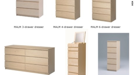 IKEA recalled certain dressers last year.