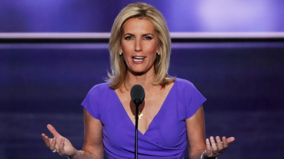 CLEVELAND, OH - JULY 20:  Political talk radio host Laura Ingraham delivers a speech on the third day of the Republican National Convention on July 20, 2016 at the Quicken Loans Arena in Cleveland, Ohio. Republican presidential candidate Donald Trump received the number of votes needed to secure the party