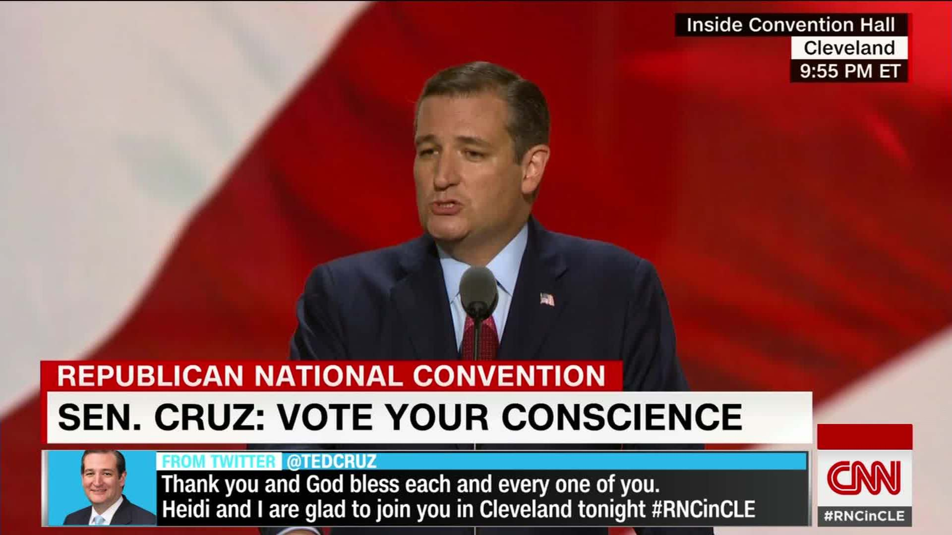 Ted Cruz booed by Republican National Convention crowd - CNN Video