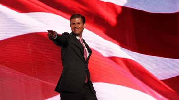 Eric Trump, one of Donald Trump
