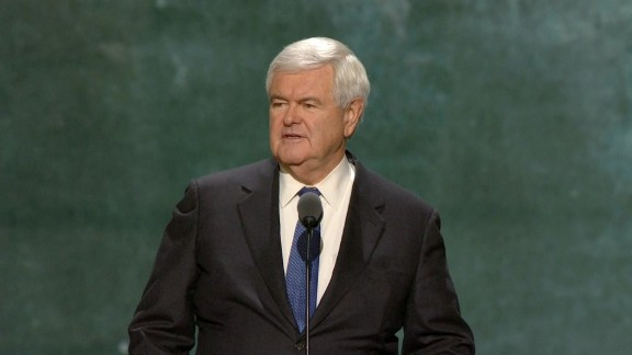 Newt Gingrich speaks at the 2016 RNC