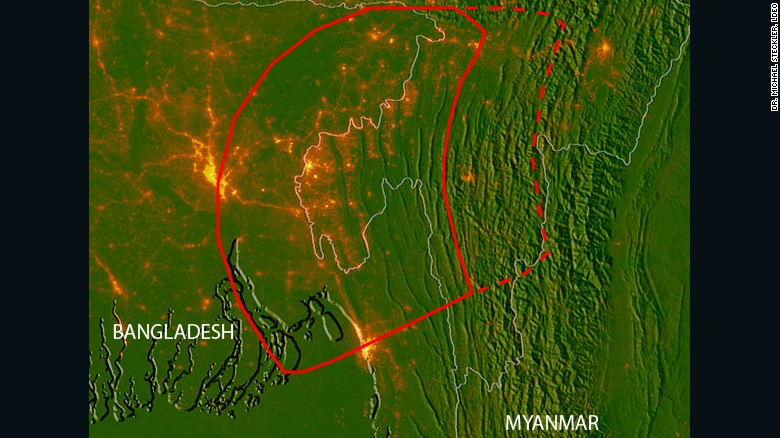Major bangladesh earthquake possibility studied cnn this map shows the position of the hidden fault lines in red the base map gumiabroncs Choice Image