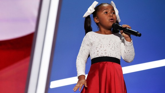 Young singer Heavenly Joy performs.