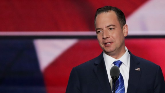 Reince Priebus, chairman of the Republican National Committee, delivers a speech during the evening session on the fourth day of the Republican National Convention on July 21, 2016 at the Quicken Loans Arena in Cleveland, Ohio. Republican presidential candidate Donald Trump received the number of votes needed to secure the party's nomination. An estimated 50,000 people are expected in Cleveland, including hundreds of protesters and members of the media. The four-day Republican National Convention kicked off on July 18. (Photo by Alex Wong/Getty Images)