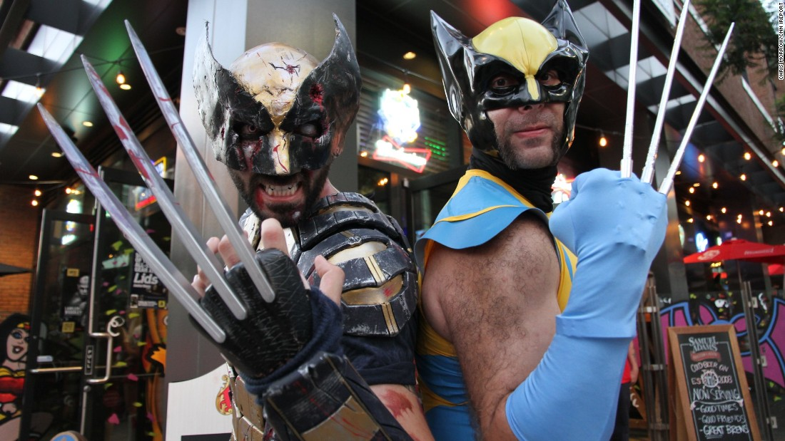 Two fans who met at the convention show off their homemade Wolverine costumes. & Costumes of Comic-Con 2016