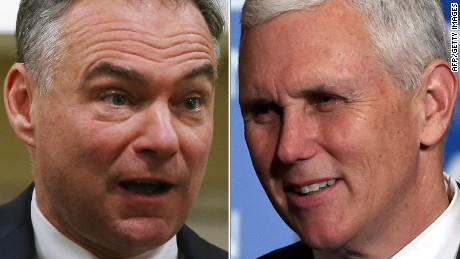 VP debate: Pence looking for Tim Kaine stand-in