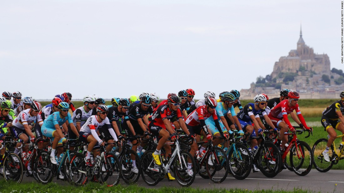 The race began three weeks ago in Le Mont-Saint-Michel, France.