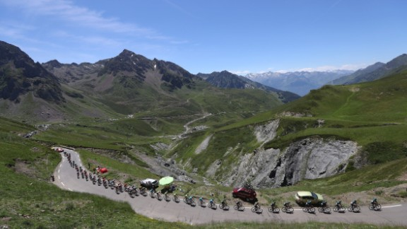 Froome made his move to the top of the pack on stage eight from Pau to Bagneres-De-Luchon.