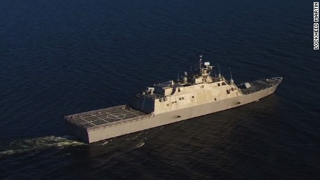 U.S. Navy tests new warship